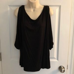 Black WHBM top with open sleeves, size M